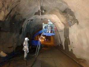 2015.02 新潟県 乾式 トンネル 第一建設工業 一般国道459号線 如月・師走隧道補修工事5